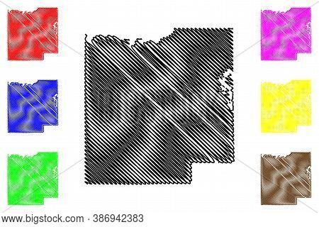 Dubois County, Indiana (u.s. County, United States Of America, Usa, U.s., Us) Map Vector Illustratio