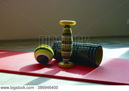 On A Mat For Pilates And Yoga Stands Pilates Equipment