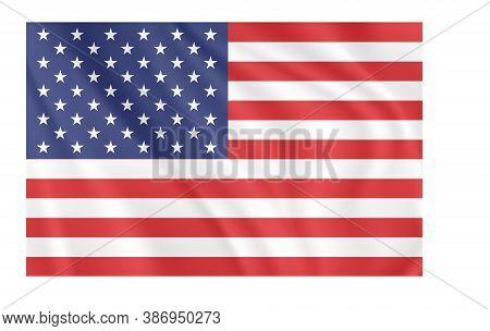 American Flag. Vector Image Of American Flag.