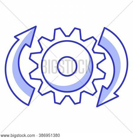 Loading Icon Gear And Shooters.refresh Operation.flat Line Art Vector Outline.