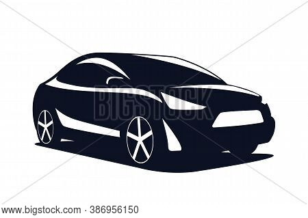 Logo Car Modern Suv Isolated On A White Background. Vector Illustration.