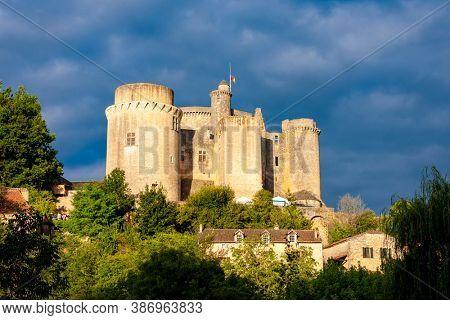 Bonaguil Castle in Lot et Garonne, France