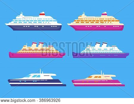 Cruise Ship. Passenger Ocean Liner. Cruise Luxury Yacht.