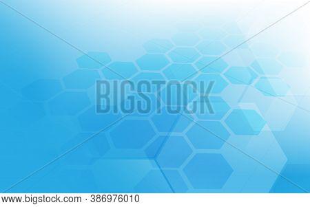 Abstract Technology Digital Hi Tech Hexagons Concept Background. Vector Illustration