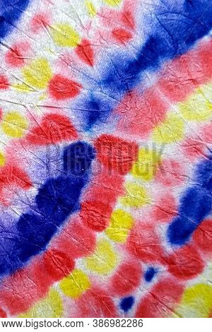 Dripping Art. Colorful Rainbow Texture. Tie Dye Watercolour Pattern. Grunge Shibori. Abstract Dirty