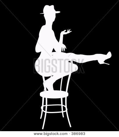 Stripper On Stool