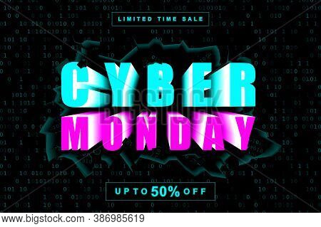 Sale, Monday, Cyber Monday, Retail, Discount, Cyber, Shop, Offer, Promotion, Illustration, Backgroun