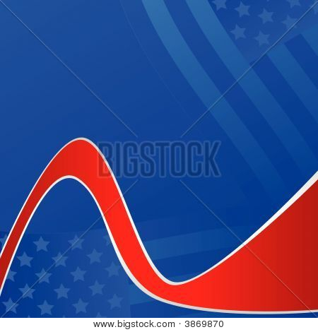 United States Red Ribbon Background