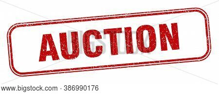 Auction Stamp. Auction Square Grunge Sign. Label