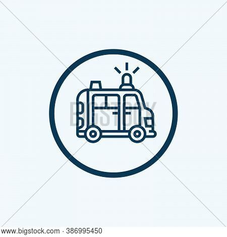 Ambulance Icon Isolated On White Background From Health Collection. Ambulance Icon Trendy And Modern