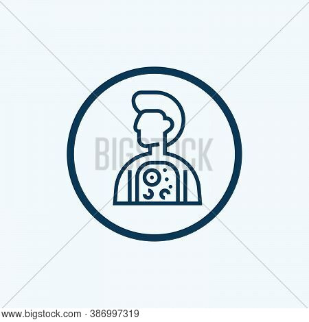 Germs Icon Isolated On White Background From Scientific Collection. Germs Icon Trendy And Modern Ger