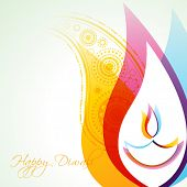 beautiful creative vector colorful happy diwali background poster