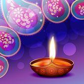 vector diwali diya background illustration poster