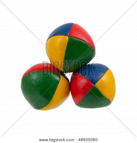 Three Juggle Balls Isolated
