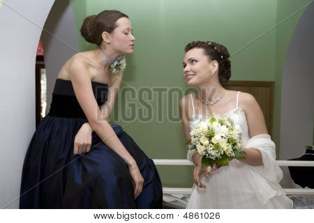 Bride With Maid Of Honour