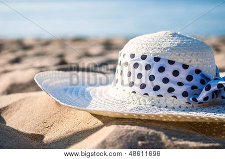 Summer Hat At The Beach