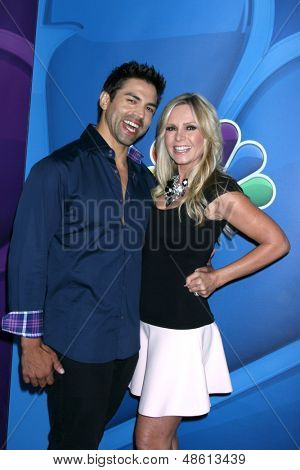 LOS ANGELES - JUL 27:  Eddie Judge, Tamra Barney at the NBC TCA Summer Press Tour 2013 at the Beverly Hilton Hotel on July 27, 2013 in Beverly Hills, CA