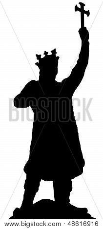 silhouette of stefan cel mare