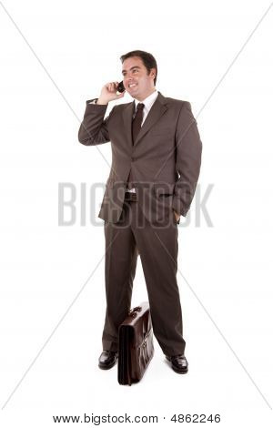 Happy Business Man On The Phone