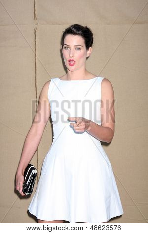 LOS ANGELES - JUL 29:  Cobie Smulders arrives at the 2013 CBS TCA Summer Party at the private location on July 29, 2013 in Beverly Hills, CA