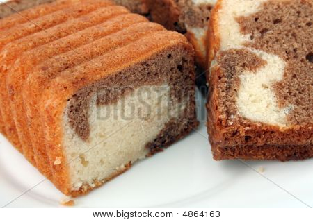 Slices Of A Chocolate Cake