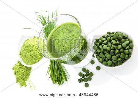 Verde súper saludable. Suplementos de desintoxicación.