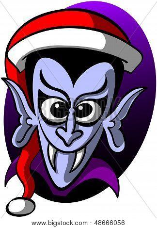 Dracula celebrating Christmas