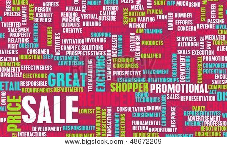 Sale in a Store or Shopping Mall Concept
