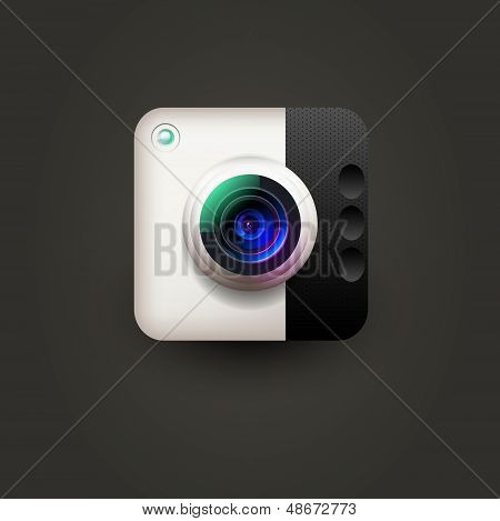 User interface camera lens icon for user interface