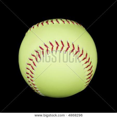 Yellow Softball On Black
