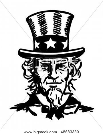uncle sam 2 retro clip art vector photo bigstock rh bigstockphoto com Black and White Designs Clip Art 4WD Black and White Clip Art
