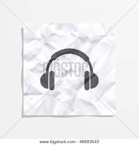 Stock icons headphones
