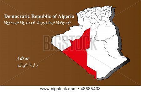 Algeria - Adrar Highlighted