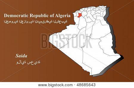 Algeria - Saida Highlighted