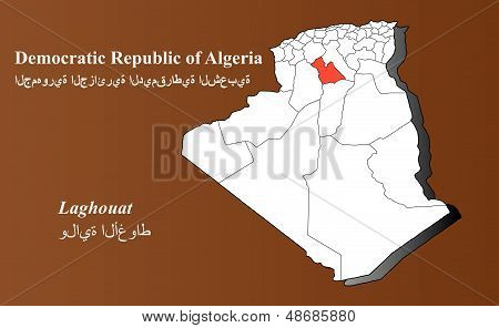 Algeria - Laghouat Highlighted