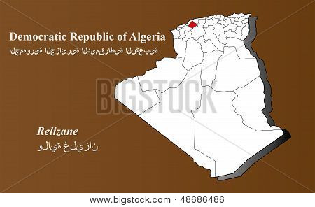Algeria - Relizane Highlighted