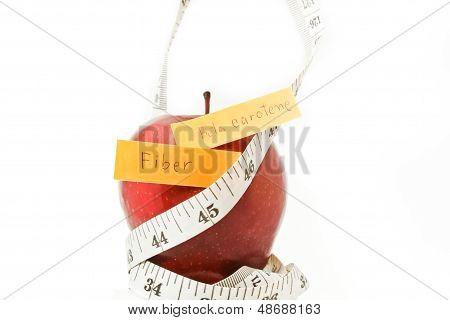 Apple Diet Concept.