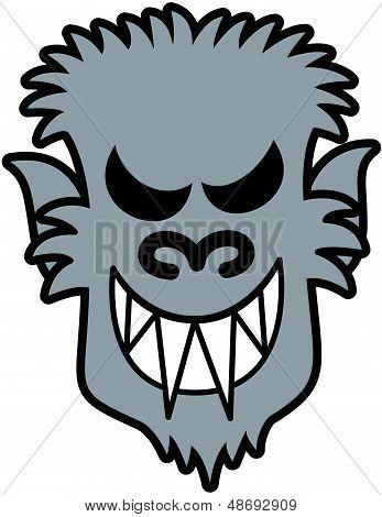 Naughty Halloween werewolf