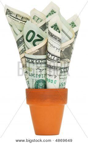 American Money In A Pot
