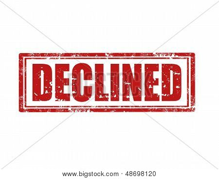 Declined -stamp