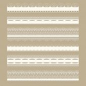 Vector white seamless lacy vintage design elements poster