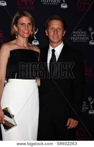 Colleen Bell and Brad Bell at the 2013 Daytime Creative Emmys, Bonaventure Hotel, Los Angeles, CA 06-14-13