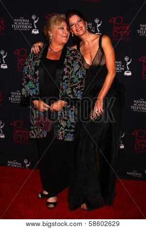 Beth Maitland and Michelle Stafford at the 2013 Daytime Creative Emmys, Bonaventure Hotel, Los Angeles, CA 06-14-13