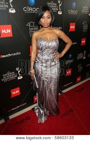 Angell Conwell at the 40th Annual Daytime Emmy Awards, Beverly Hilton Hotel, Beverly Hills, CA 06-16-13