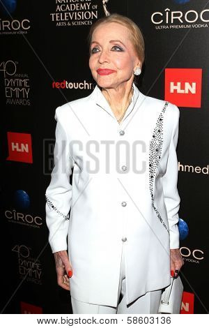 Anne Jeffreys at the 40th Annual Daytime Emmy Awards, Beverly Hilton Hotel, Beverly Hills, CA 06-16-13
