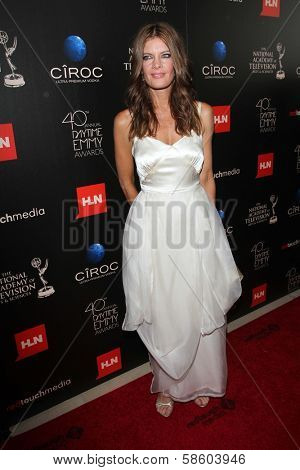 Michelle Stafford at the 40th Annual Daytime Emmy Awards, Beverly Hilton Hotel, Beverly Hills, CA 06-16-13