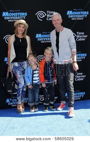Tom Dumont and family at the