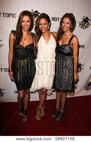 Sco Triplets at the Comikaze red carpet Launch Party, Whimsic Alley, Los Angeles, CA 06-21-13