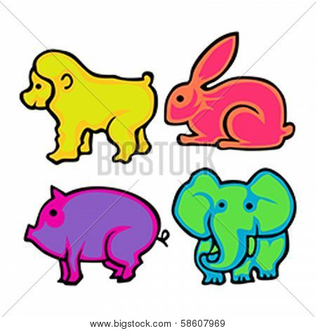 Cute Animals Vector Pack