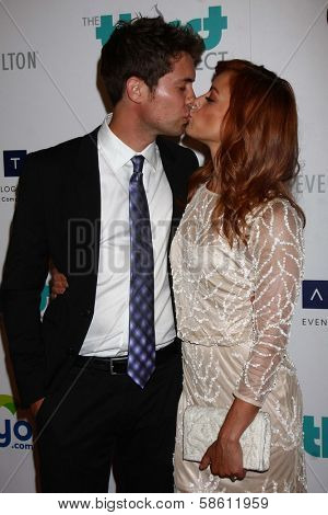 Drew Seeley and Amy Paffrath at the 4th Annual Thirst Gala, Beverly Hilton Hotel, Beverly Hills, CA 06-25-13
